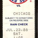 CHICAGO WHITE SOX BOSTON RED SOX 1988 TICKET ELLIS BURKS WADE BOGGS
