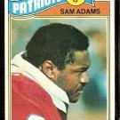 NEW ENGLAND PATRIOTS SAM ADAMS 1977 TOPPS # 14 VG+