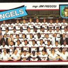 CALIFORNIA ANGELS TEAM CARD UNMARKED CHECKLIST 1980 TOPPS # 214 NR MT