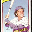 MILWAUKEE BREWERS SIXTO LEZCANO 1980 TOPPS # 215 NR MT