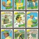1980 TOPPS OAKLAND ATHLETICS TEAM LOT 24 DIFF ARMAS HEATH MURPHY NORRIS