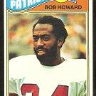 NEW ENGLAND PATRIOTS BOB HOWARD 1977 TOPPS # 88 EX