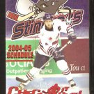 CHARLESTON SOUTH CAROLINA STINGRAYS 2004-05 POCKET SCHEDULE