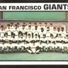 SAN FRANCISCO GIANTS TEAM CARD 1973 TOPPS # 434 NM
