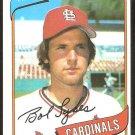 ST LOUIS CARDINALS BOB SYKES 1980 TOPPS # 223 NM SOC