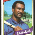 TEXAS RANGERS WILLIE MONTANEZ 1980 TOPPS # 224 NM SOC