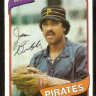 PITTSBURGH PIRATES JIM BIBBY 1980 TOPPS # 229 NR MT