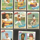 1980 TOPPS HOUSTON ASTROS TEAM LOT 30 DIFF CEDENO CRUZ NOLAN RYAN LEONARD RC NIEKRO TEAM JR RICHARD