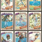 1980 TOPPS MINNESOTA TWINS TEAM LOT 24 DIFF KOOSMAN SMALLEY GOLTZ WYNEGAR