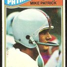 NEW ENGLAND PATRIOTS MIKE PATRICK ROOKIE CARD RC 1977 TOPPS # 313 G/VG