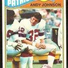 NEW ENGLAND PATRIOTS ANDY JOHNSON ROOKIE CARD RC 1977 TOPPS # 401 VG/EX