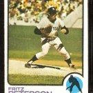 NEW YORK YANKEES FRITZ PETERSON 1973 TOPPS # 82 VG