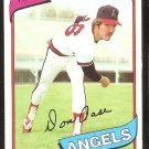 CALIFORNIA ANGELS DON AASE 1980 TOPPS # 239