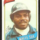 CHICAGO WHITE SOX LAMAR JOHNSON 1980 TOPPS # 242 NM SOC