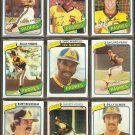 1980 TOPPS SAN DIEGO PADRES TEAM LOT 24 DIFF DAVE WINFIELD ROLLIE FINGERS GAYLORD PERRY +