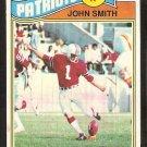 NEW ENGLAND PATRIOTS JOHN SMITH 1977 TOPPS # 499 EX
