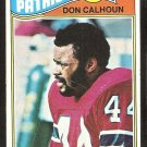 NEW ENGLAND PATRIOTS DON CALHOUN ROOKIE CARD RC 1977 TOPPS # 518 VG+
