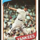 New York Yankees Jim Kaat 1980 Topps Baseball Card # 250 ex/em