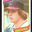 CLEVELAND INDIANS TED COX 1980 TOPPS # 252 NR MT