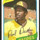 san Diego Padres Paul Dade 1980 Topps Baseball Card # 254 nr mt