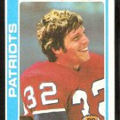 New England Patriots Andy Johnson 1978 Topps Football Card # 76 ex