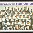 Milwaukee Brewers Team Card 1973 Topps Baseball Card # 127 nr mt