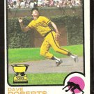SAN DIEGO PADRES DAVE ROBERTS ROOKIE CARD RC 1973 TOPPS # 133 VG