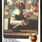NEW YORK YANKEES THURMAN MUNSON 1973 TOPPS # 142 EX MT