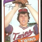 Minnesota Twins Roger Erickson 1980 Topps Baseball Card # 256 nr mt