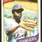 Texas Rangers Al Oliver 1980 Topps Baseball Card # 260 nr mt