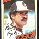 Baltimore Orioles Benny Ayala 1980 Topps Baseball Card # 262 nr mt