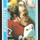 New England Patriots Bill Lenkaitis 1978 Topps Football Card # 262 ex