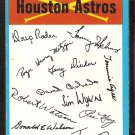 HOUSTON ASTROS UNMARKED BLUE TEAM CHECKLIST 1973 TOPPS VG+/EX