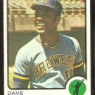 MILWAUKEE BREWERS DAVE MAY 1973 TOPPS # 152 VG