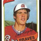 Atlanta Braves Dale Murphy 1980 Topps Baseball Card # 274 nr mt