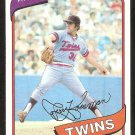 Minnesota Twins Jerry Koosman 1980 Topps Baseball Card # 275 nr mt