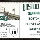 Cleveland Indians Boston Red Sox 2012 Ticket Will Middlebrooks Jarrod Saltammachia Michael Brantley