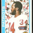 New England Patriots Prentice McCray 1978 Topps Football Card # 421