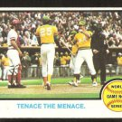1973 Topps Baseball Card 203 World Series Oakland Athletics Gene Tenace Cincinnati Reds Johnny Bench
