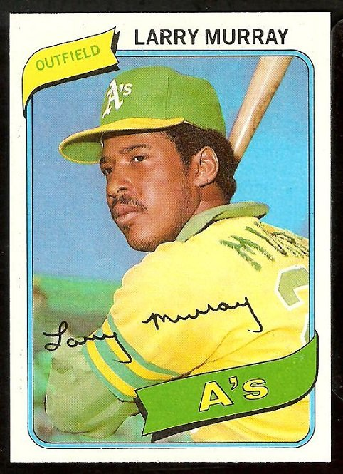 Oakland Athletics Larry Murray 1980 Topps Baseball Card # 284 nr mt