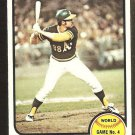 WORLD SERIES GAME 4 OAKLAND ATHLETICS GENE TENACE 1973 TOPPS # 206 EX