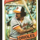 BALTIMORE ORIOLES JOHN LOWENSTEIN 1980 TOPPS # 287 EX