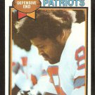 New England Patriots Julius Adams 1979 Topps Football Card # 242 ex