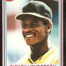 Oakland Athletics Rickey Henderson 1990 Post Cereal Baseball Card # 25