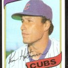 Chicago Cubs Ken Holtzman 1980 Topps Baseball Card # 298 nr mt