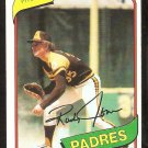 San Diego Padres Randy Jones 1980 Topps Baseball Card # 305 nr mt