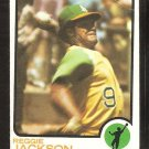 Oakland Athletics Reggie Jackson 1973 Topps Baseball Card # 255 g/vg