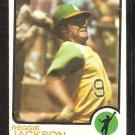 Oakland Athletics Reggie Jackson 1973 Topps Baseball Card # 255 g/vg