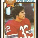 New England Patriots Andy Johnson 1979 Topps Football Card # 281 ex