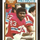 New England Patriots Horace Ivory 1979 Topps Football Card # 341